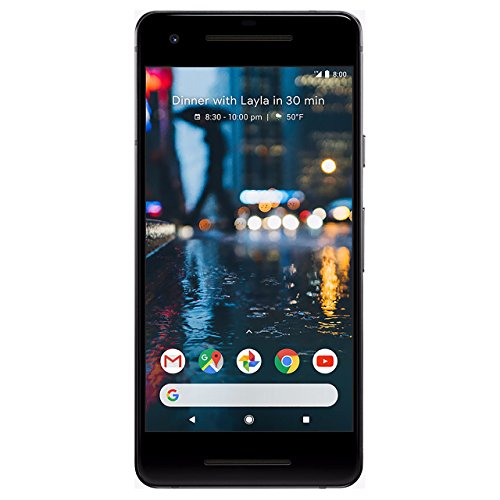 Pixel 2 64 GB Unlocked Smartphone for All GSM Carriers Worldwide, Just Black (Renewed)