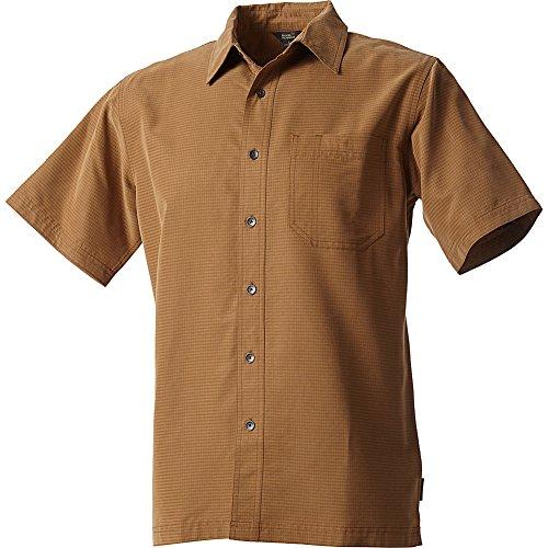 Royal Robbins Men's Mojave Desert Pucker S/S Walnut Button-up Shirt LG