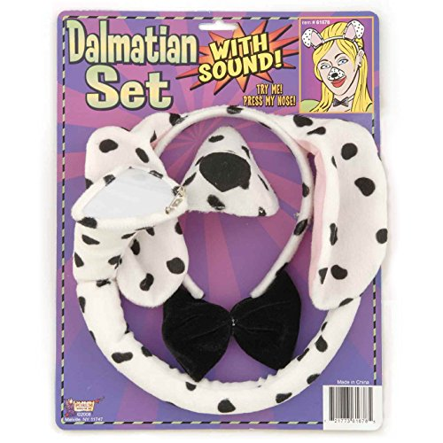 Grim Dog Costume Reaper (Forum Novelties Animal Costume Set Dalmatian Dog Ears Nose Tail with Sound)
