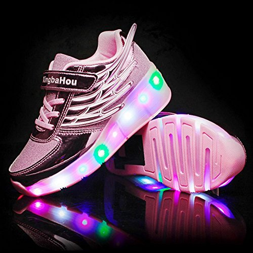 Girls Adult with Wheels Boys Roller Sneakers Skate for Up for Light Shoes Shoes LED HotDingding Kids HIPgZH