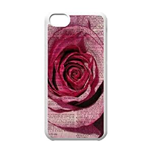 Vintage Flower Watercolor Original New Print DIY Phone Case for Iphone 5C,personalized case cover ygtg586785