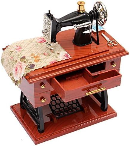Caja de música Vintage Mini Pedal Máquina de coser mecánica mts ...
