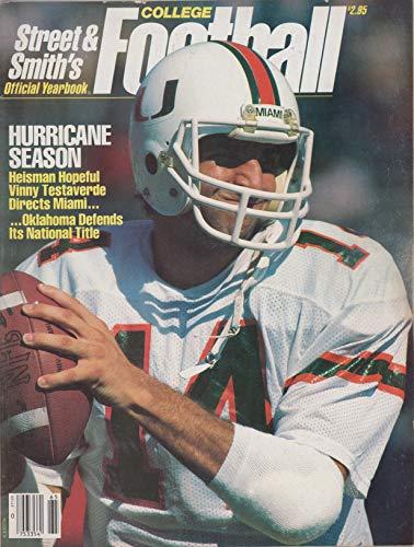 Vinny Football Testaverde (1986 Street and Smith's College Football (Vinny Testaverde of Miami cover))