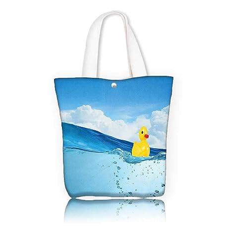 a7d78d37cc Amazon.com  Canvas Beach Bags -W16.5 x H14 x D7 INCH women Large ...