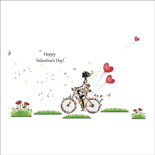 QTXINGMU Feliz Día De San Valentín Nuevas Pegatinas De Pared ...