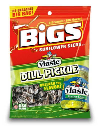 Bigs Vlasic Dill Pickle Sunflower Seeds, 3.15-Ounce (Pack of 12) - Bigs Dill Pickle Sunflower Seeds