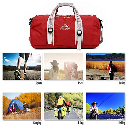 Large Women Camping Red Traveling MeiLiio A03 Backpack Sport Kids Waterproof Handbag Multifunctional Blue Men Climbing Bags Outdoor Hiking Light Outdoor for PISZw
