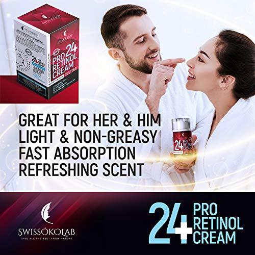 51KBImX0YoL - Retinol Cream for Face Eye Neck Area - Day & Night Retinol Moisturizer - Anti Aging Face Cream with 2.5% Active Retinol Hyaluronic Acid - Firming Anti Wrinkle Cream for Men and Women