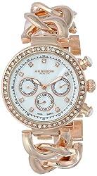 Akribos XXIV Women's AK640RG Lady Diamond Rose Gold-Tone Bracelet Watch