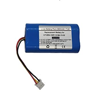BA-10-02 - Batería para Impresora térmica móvil (2600 mAh/7,4 V ...