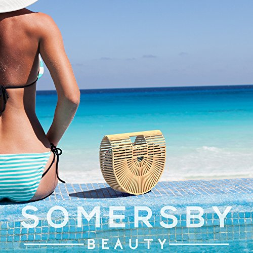 Bamboo Handbag - Womens Basket Bag with Purse Insert - Handmade Summer Tote by Somersby Beauty (Image #1)