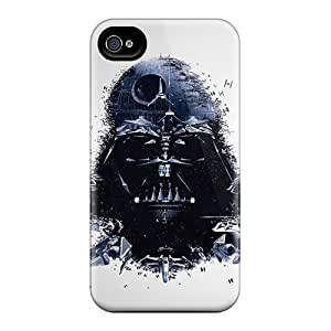 Iphone 4/4s WTi14253DMYh Provide Private Custom Trendy Star Wars Darth Vader Artwork Pattern Shock Absorbent Cell-phone Hard Cover -DrawsBriscoe