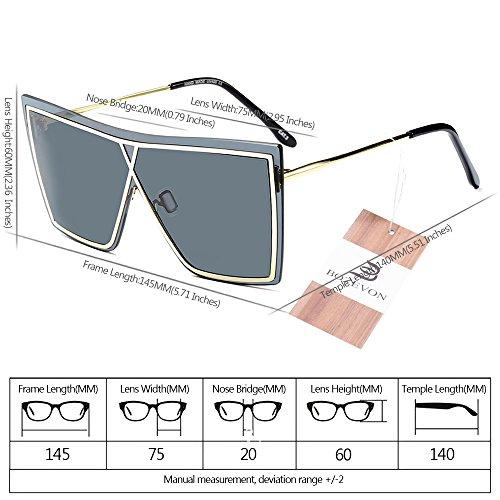 estilo Unisex y BOZEVON de sol Último Hombre Mujer UV400 04 Estilo Gafas para de Verano 7qRqE
