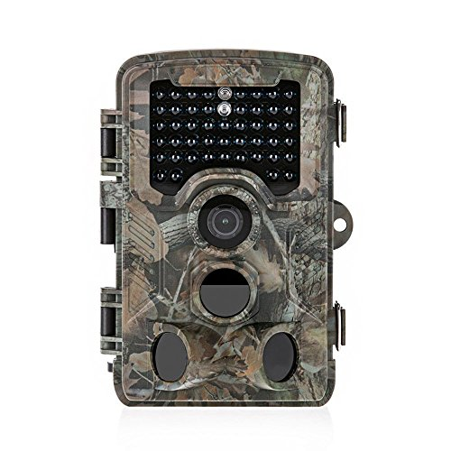 Distianert Trail Camera 16MP 1080P Wildlife Game Camera Low Glow lack Infrared with 0.6S Trigger Time 80 FT Detection Range 130°Range & 47 Pcs IR LEDs for Wildlife Monitoring