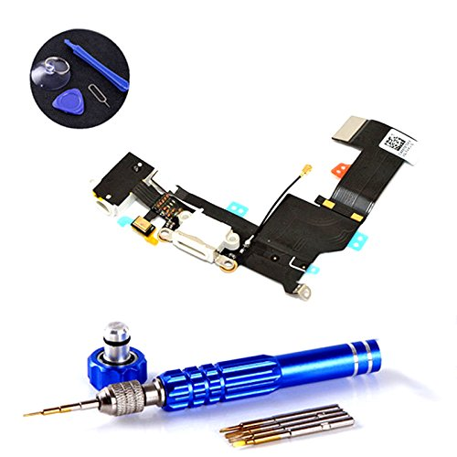 PPdigi Dock Connector for iPhone SE USB charging jack Audio jack Microphone Replacement Parts with tool set (fits iPhone SE, Gold/Rose Gold/Silver) by PPdigi