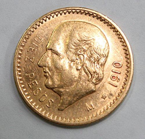 1910 MX Mexican Gold Coin 10 Pesos BU 1910 Gold Coin