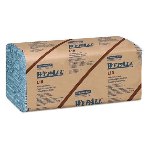 WypAll 05120 L10 Windshield Wipers, Banded, 2-Ply, 9 3/10 x 10 1/2, 140/Pack, 16 Packs/Carton