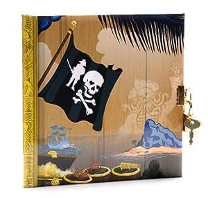 Goldbuch 44286 - Diario con candado, diseño piratas [importado de Alemania]