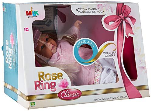 Boneca Com Mecanismo Rose Ring Classic Canta 43cm Milk Multicor