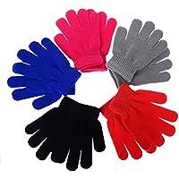 Yantu Kids Winter Gloves Warm Stretchy Knitted Comfortable Gloves Girls Boys Magic Glove