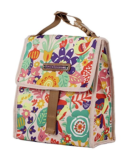 Bloom Box - Lily Bloom Foldover Women's Lunch Box (Tulips and Tweets)