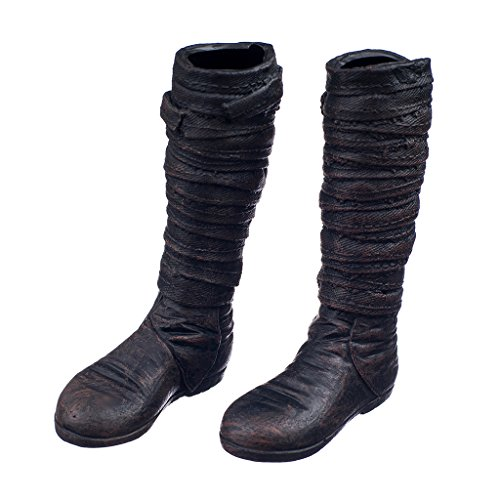 MagiDeal 1/6 Scale Shoes Black Widow Catwoman Women Long Boots Accessories for Kumik Phicen Figure (Boots For Women Online)