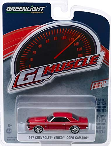 1967 Chevrolet Yenko Copo Camaro Rally Red Greenlight Muscle Series 21 1/64 Diecast Model Car by Greenlight 13230 - Car Green Light Muscle