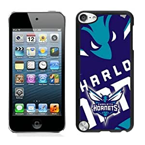 New Custom Design Cover Case For iPod Touch 5th Generation Charlotte Hornets 4 Black Phone Case
