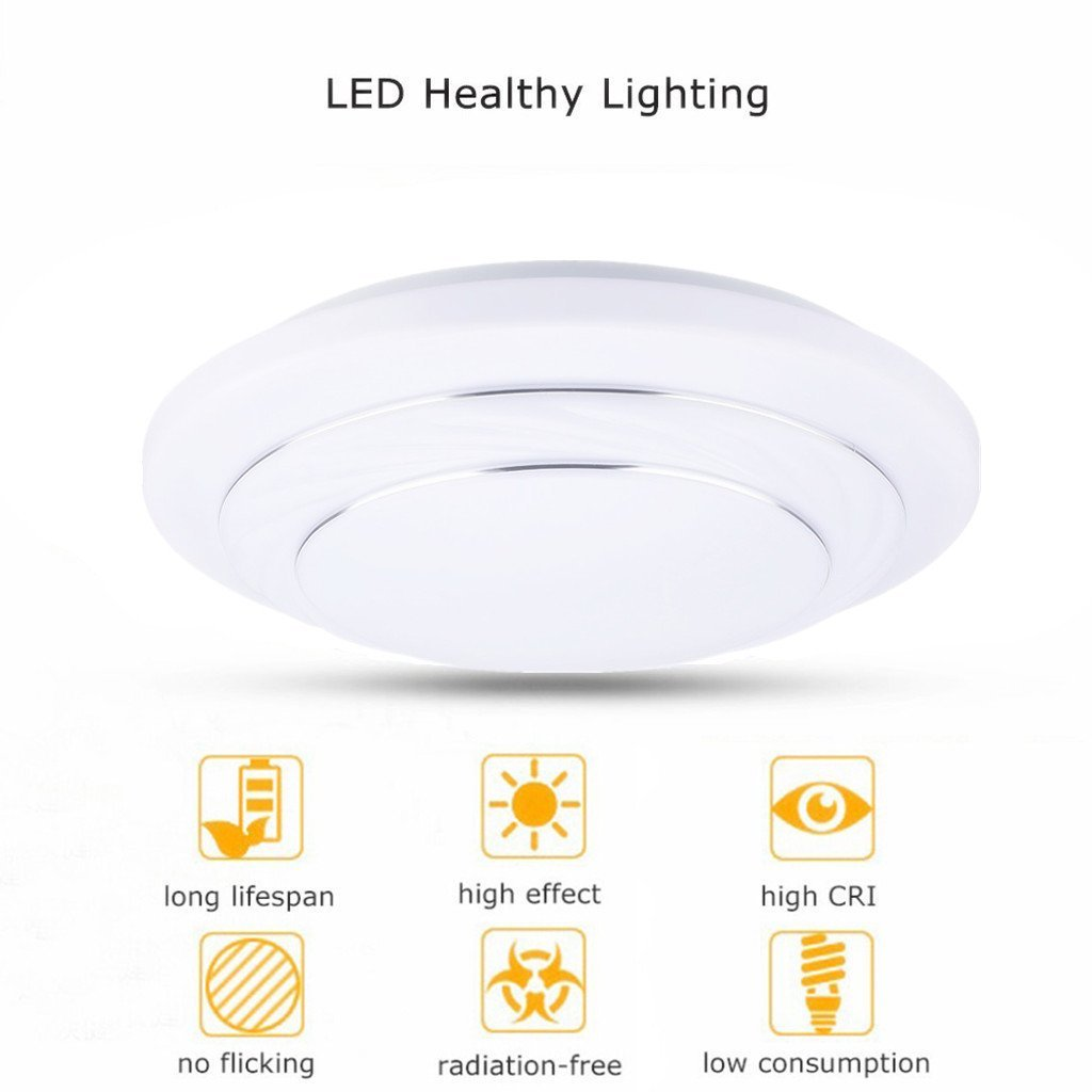 Floureon 24w round led ceiling light 3500k 6400k color floureon 24w round led ceiling light 3500k 6400k color temperature about 4000 lumens round flush mount fixture for indoor home lighting24w two tone arubaitofo Image collections