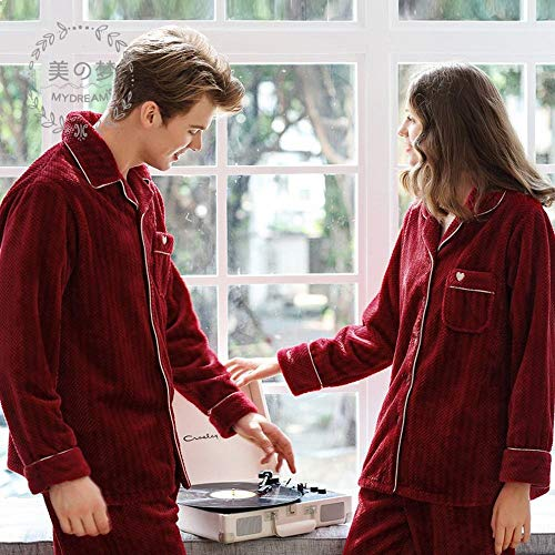 De Y Cn Invierno Traje pijamas Rojo Casados Domicilio Recién Otoño Mujeres A Polar Servicio Boda Festivo Franela Coral Hombres E Mujer ffn6rq7