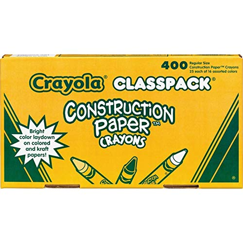 Crayola 52-1617 Class Pack Crayola Construction Paper Crayons, 25 ea. of 16 Colors, 400/Set by Crayola (Image #3)