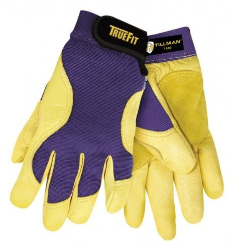 - John Tillman 1480XL X-Large Blue/Gold True Fit Full Finger Top Grain Spandex/Deerskin Premium Mechanics Gloves, English, 15.34 fl. oz, Plastic, 1 x 11.2 x 4.4