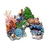 Resin Aquarium Fish Tank Landscape Simulation Rockery Shell Coral Water Plant Decoration Accessories