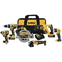 Dewalt Dck695P2 6 Tool Combo Kit Features