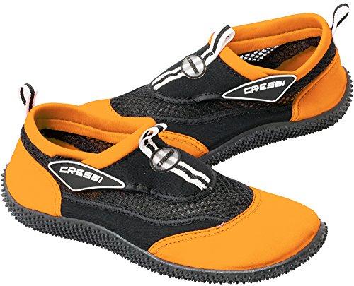 Cressi Reef Unisex Premium Wassersportschuhe Schwarz/Orange