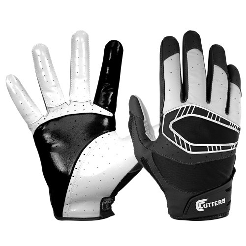 Cutters Gloves REV Pro 3D Receiver Glove (Pair), Black, Large