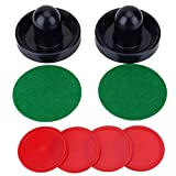 Air Hockey Set, Lightweight Air Hockey Including 2 Pusher Paddles and 4 Pucks for Game Tables Equipment Accessories