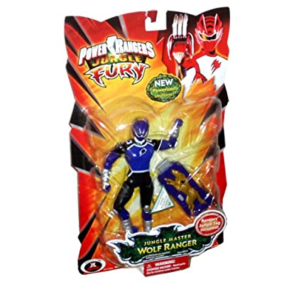 Power Rangers Jungle Fury 6 Inch Tall Action Figure - Jungle Master Purple Wolf Ranger with New Powerized Uniform and Rangers