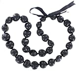 Hawaiian Lei Necklace of Black Kukui Nuts