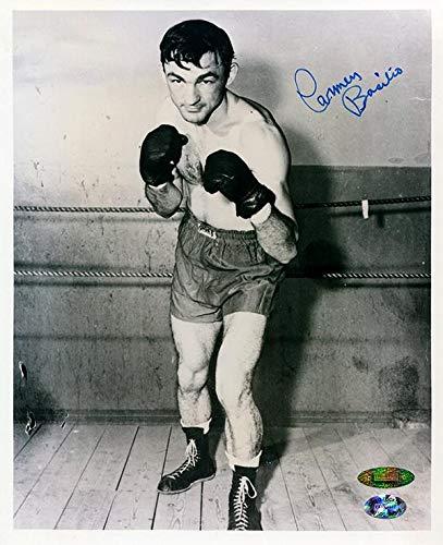 Boxer Carmen Basilio (Autographed Basilio Picture - 8x10 - Autographed Boxing Photos)