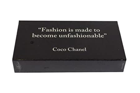 """The Joy Of Light Designer Matches Coco Chanel Fashion Embossed 4"""" Collectible Matchbox by The Joy Of Light"""