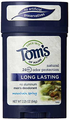 Tom's of Maine 24 Hour Mens Long Lasting Deodorant, Mountain Spring, 2.25 Ounce, 3 Count