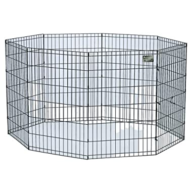 "Black E-Coat 8 Panel Exercise Pen Without Door - 24W x 24H"" : Target"