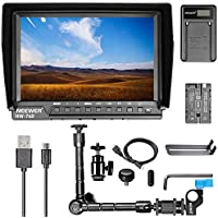 Neewer NW-760 7 inches Full HD 1920x1200 IPS Screen Camera Field Monitor Kit for Sony Canon Nikon Olympus Pentax Panasonic,Include NW-760 Monitor,Magic Arm,USB Battery Charger,F550 Replacement Battery