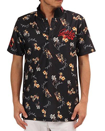 ガッチャゴルフ GOTCHA GOLF 半袖シャツ?ポロシャツ ドライアロハ半袖ポロシャツ