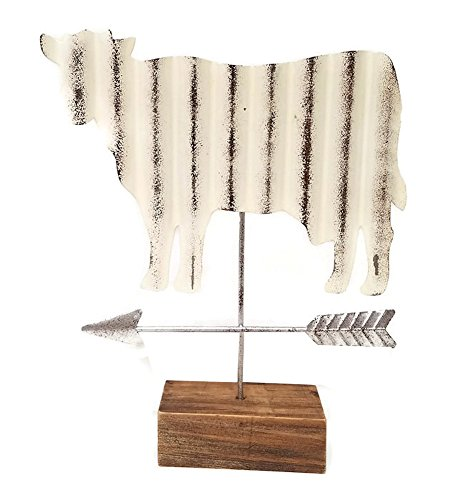 Modern Farmhouse Cow Tabletop Weather Vane Figurine