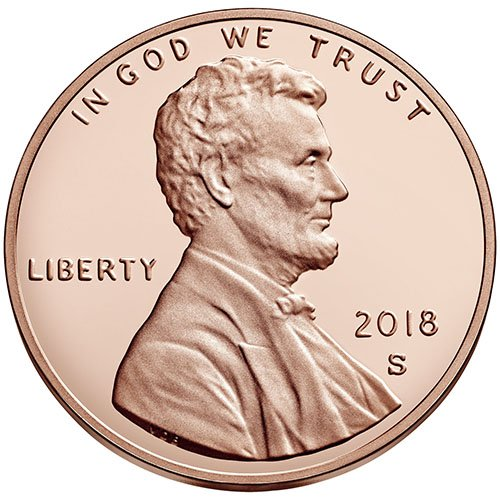 - 2018 S Proof Lincoln Shield Cent Choice Uncirculated US Mint