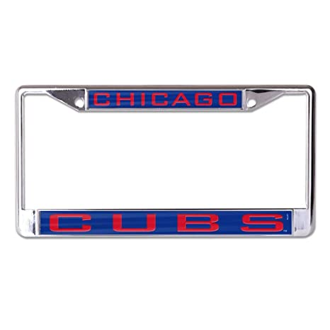 Amazon.com : MLB Chicago Cubs Inlaid License Plate Frame, Team Color ...