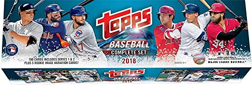 2018 Topps RETAIL Edition Factory Sealed MLB Baseball 705 Card Set Including ROOKIE VARIATIONS Found Exclusively in This Version Plus Basic Rookies of Shohei Otani, Ronald Acuna, Rafael Devers - Sets Card Complete Baseball