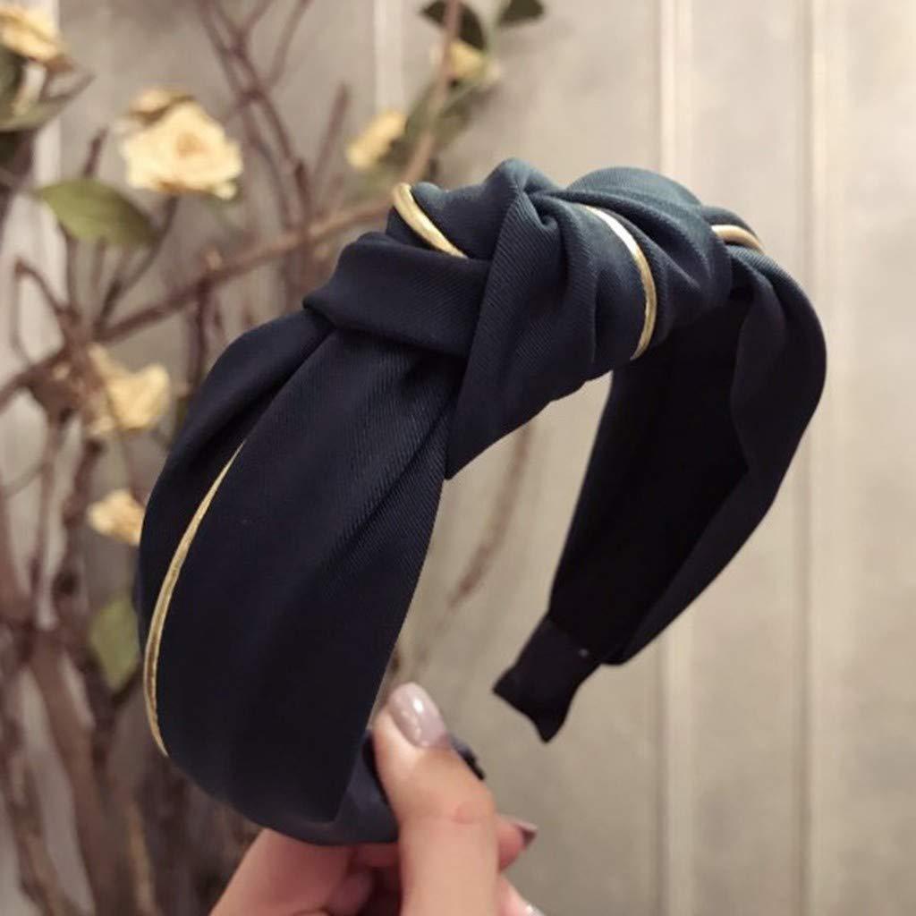SEWORLD Diadema para la mujer Diadema para el cabello Nudo en forma de arco Corbata de terciopelo Accesorios de banda